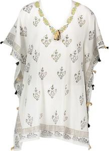 Bluzka Inka Brand z krótkim rękawem z bawełny z dekoltem w kształcie litery v