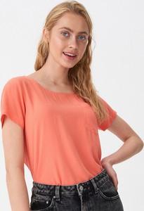 Pomarańczowa bluzka House z krótkim rękawem w stylu casual