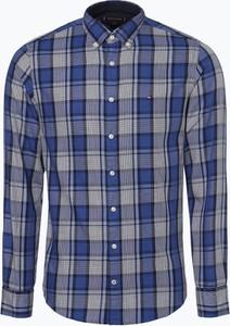Granatowa koszula Tommy Hilfiger z długim rękawem z bawełny