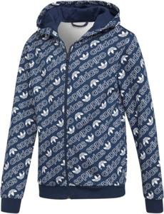 Niebieska bluza dziecięca Adidas z bawełny