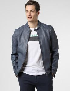 Niebieska kurtka Gipsy w stylu casual ze skóry