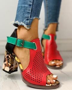Czerwone sandały Kendallme z klamrami