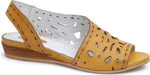 Sandały Lanqier ze skóry w stylu casual z płaską podeszwą