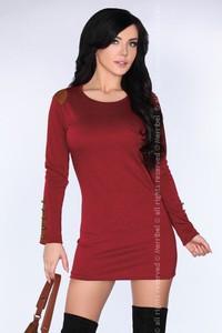 Sukienka MERRIBEL z długim rękawem z okrągłym dekoltem