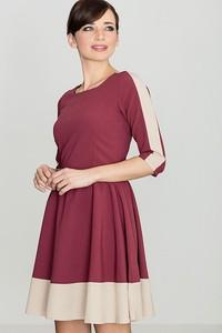 Czerwona sukienka sukienki.pl rozkloszowana