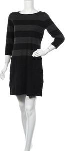 Czarna sukienka David Lawrence mini z długim rękawem
