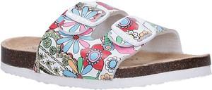 Buty dziecięce letnie Casu z klamrami w kwiatki