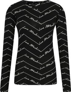 Czarna bluzka Love Moschino z długim rękawem