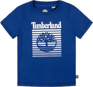 Niebieska koszulka dziecięca Timberland