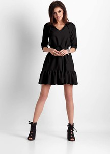 Sukienka Ivon z długim rękawem trapezowa mini