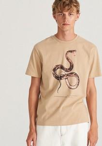 T-shirt Reserved z krótkim rękawem z bawełny