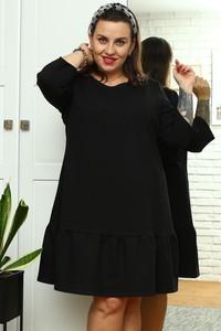 Sukienka KARKO z bawełny dla puszystych mini