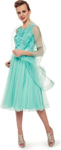 Zielona sukienka L'AF w stylu glamour z tiulu mini