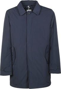 Niebieski płaszcz męski Aspesi z wełny