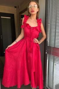 Czerwona sukienka Ivet.pl maxi