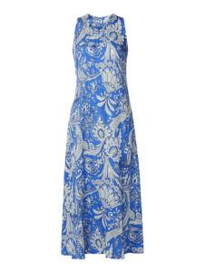 Niebieska sukienka Emily van den Bergh bez rękawów z okrągłym dekoltem maxi