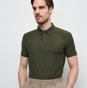 Zielona koszulka polo Reserved z krótkim rękawem