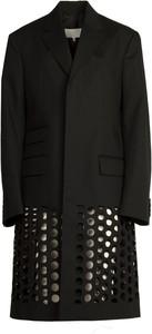 Czarny płaszcz Maison Margiela w stylu casual