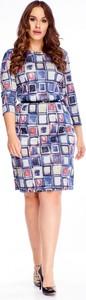 Sukienka Ptakmoda.com mini z długim rękawem z okrągłym dekoltem