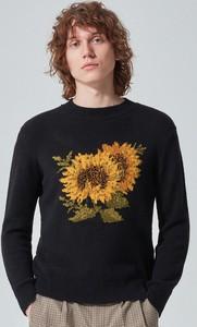 Sweter Reserved w młodzieżowym stylu z nadrukiem z okrągłym dekoltem