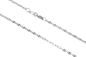 Monarti Srebrny łańcuszek 40 cm o efektownym splocie