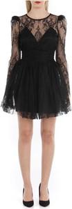 Czarna sukienka ANIYE BY mini z długim rękawem