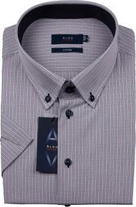 Koszula Aldo Vrandi z krótkim rękawem z klasycznym kołnierzykiem z tkaniny