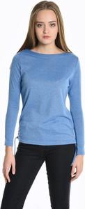 Niebieska bluzka Gate w stylu casual z długim rękawem
