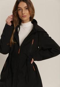 Czarna kurtka Renee długa