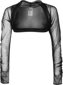 Czarna bluzka Pinko z długim rękawem z tkaniny