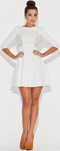 Sukienka Katrus mini z długim rękawem z bawełny
