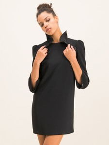 Czarna sukienka Elisabetta Franchi mini prosta