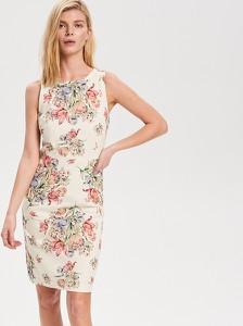 ba171f735ce5b Sukienka Reserved midi z okrągłym dekoltem