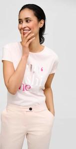 Różowa bluzka ORSAY z okrągłym dekoltem z dżerseju