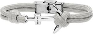 Manoki BA628S szara bransoletka ze sznurka bawełnianego, motyw kotwicy