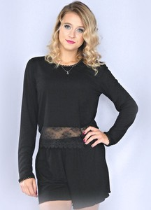 Czarna piżama Equlik