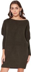 Zielony sweter Lanti z wełny