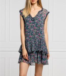 Sukienka Pepe Jeans z dekoltem w kształcie litery v w stylu casual