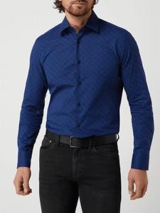 Niebieska koszula Hugo Boss z bawełny z długim rękawem w stylu casual