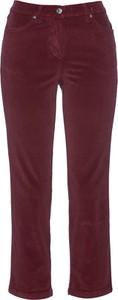 Czerwone spodnie bonprix bpc selection ze sztruksu