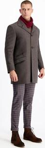 Brązowy płaszcz męski Lavard z wełny