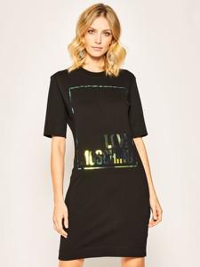 Sukienka Love Moschino z okrągłym dekoltem