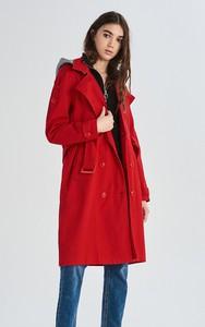 Czerwony płaszcz Sinsay w stylu casual