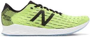 Zielone buty sportowe New Balance w sportowym stylu sznurowane