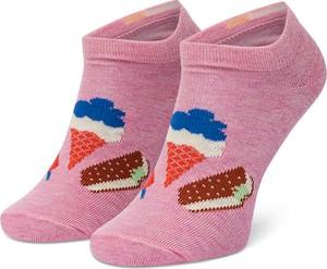 Różowe skarpetki Happy Socks