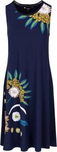 Niebieska sukienka Desigual bez rękawów w stylu casual