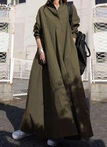 Sukienka Arilook maxi z długim rękawem z dekoltem w kształcie litery v