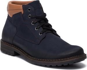 Granatowe buty zimowe Lasocki For Men sznurowane