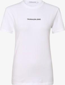 T-shirt Calvin Klein z okrągłym dekoltem w stylu casual