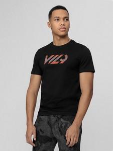 T-shirt 4F w sportowym stylu z krótkim rękawem z nadrukiem